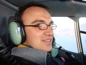 JAM en Helicoptero a Xela