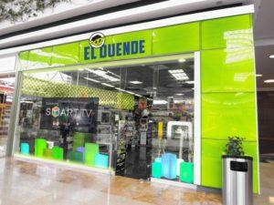 fachada tienda El Duende Color Verde Limón