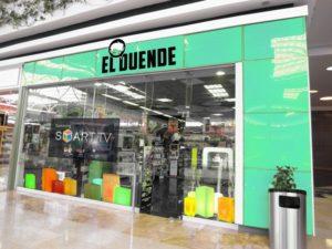 fachada tienda El Duende Color Verde