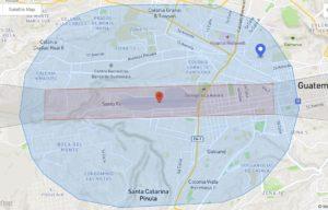 zoom zona de exlcusion dji ciudad guatemala