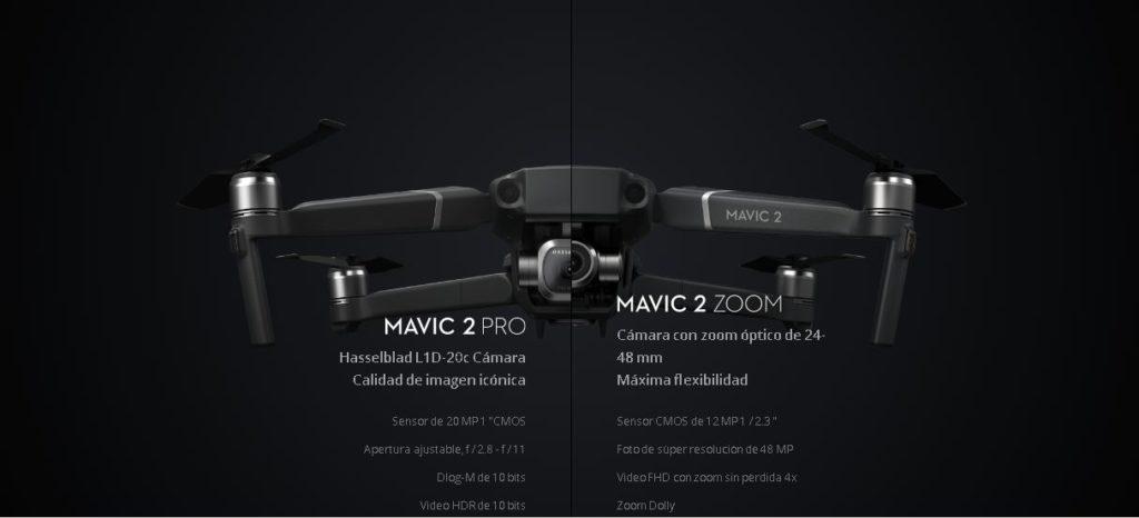 Diferencias Mavic 2 Pro vrs Mavic 2 Zoom