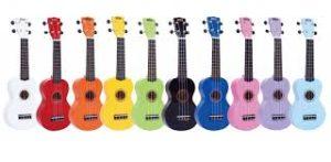 ukuleles de colores